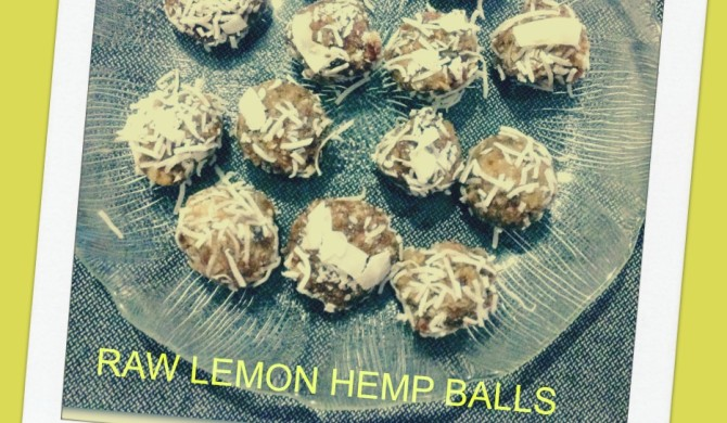RAW LEMON HEMP BALLS